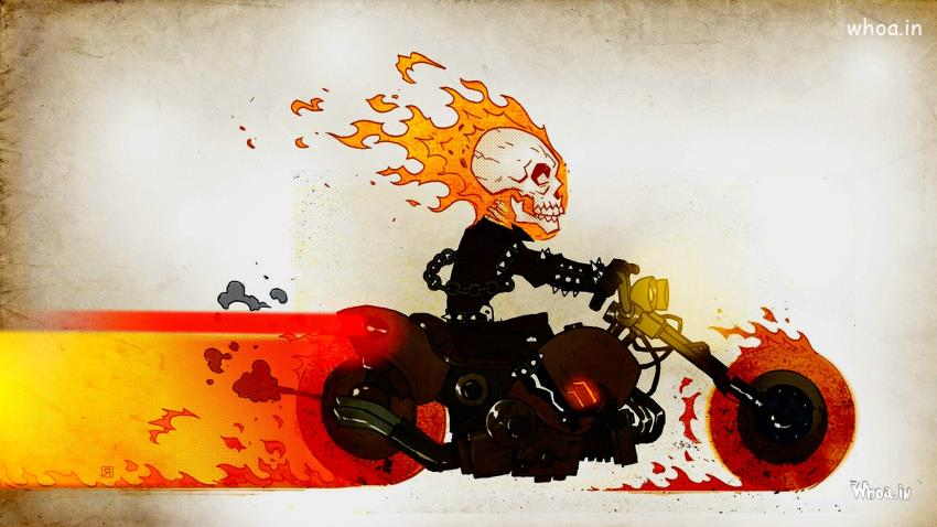 Happy Diwali Animated Wallpaper Ghost Rider Fire Skull Cartoon Hd Cartoon Wallpaper
