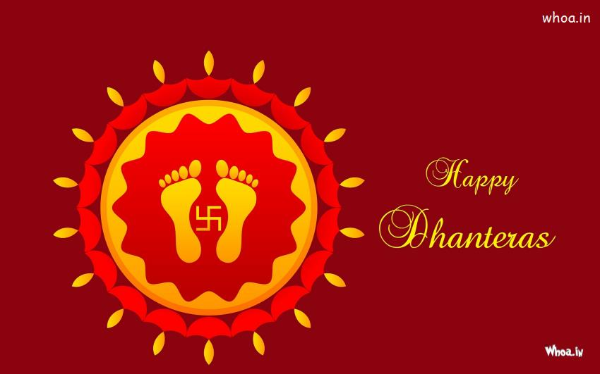 Love Quote Wallpapers In Hindi Happy Dhanteras Greetings With Red Background Hd Wallpaper