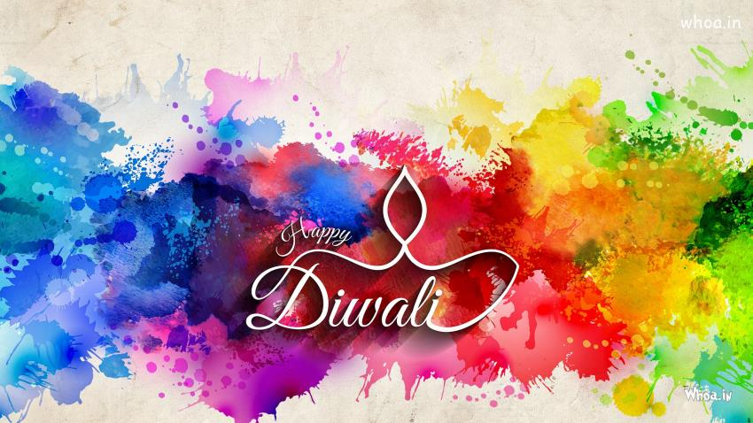 3d Wallpaper Actress Happy Diwali With Colorful Background Hd Wallpaper