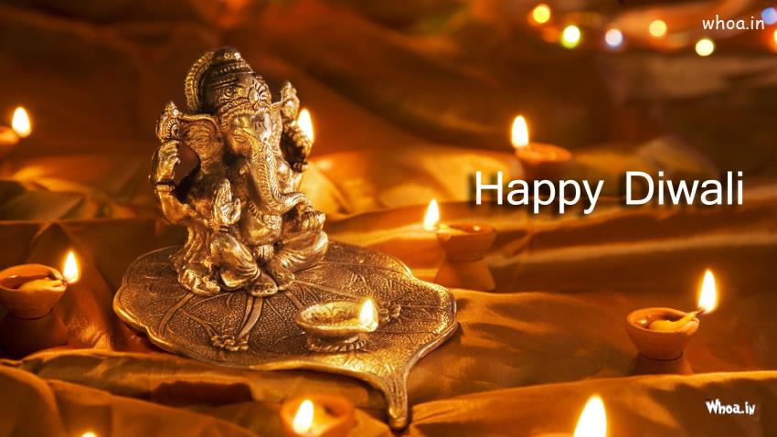 Ganesh Chaturthi Wallpapers 3d Happy Diwali With Lord Ganesh Hd Wallpaper