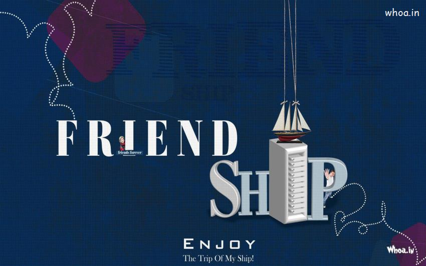 Happy Diwali Hd Wallpaper With Quotes Happy Friendship Day With Enjoy The Trip Of My Ship Wallpaper