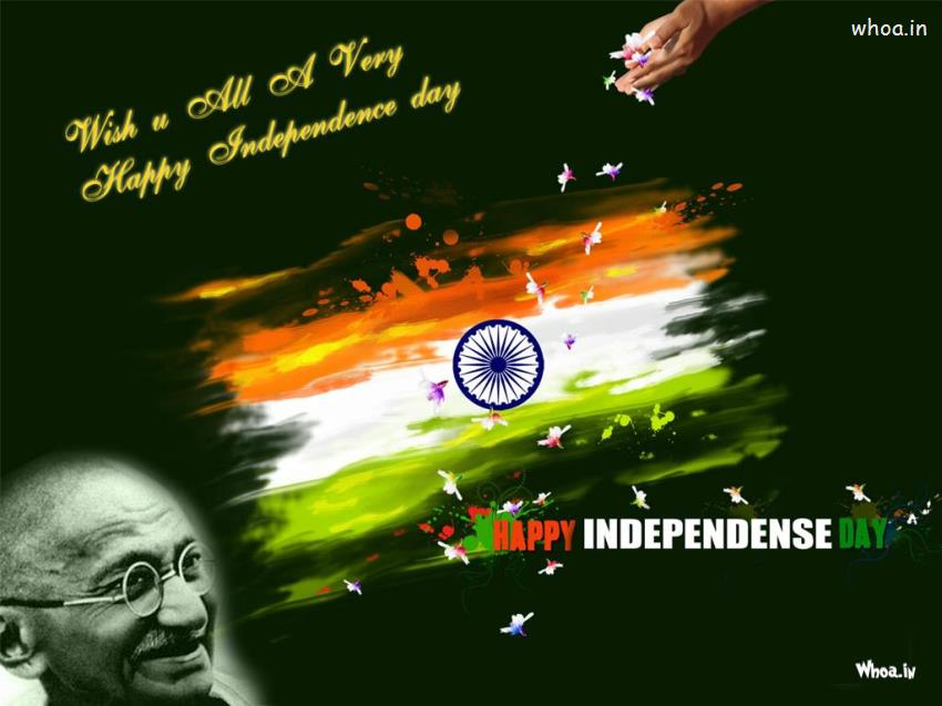 Navratri Wallpaper With Quotes Happy Independence Day With Quotes And Mahatma Gandhi Hd