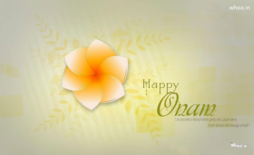 Holi Wallpaper 3d Happy Onam With Celebration Quotes Hd Wallpaper