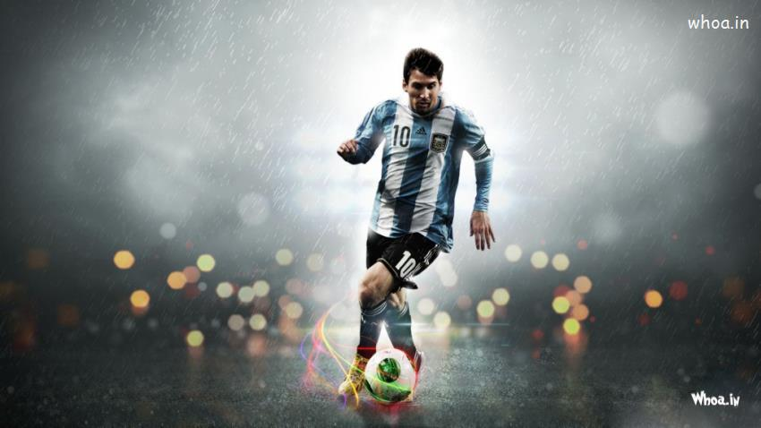 Gandhi Wallpapers With Quotes Lionel Messi Kick Football Hd Wallpaper