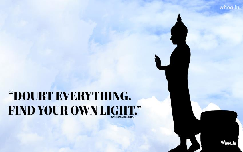Gautam Buddha 3d Wallpaper Download Lord Buddha Statue With Quotes Hd Wallpaper