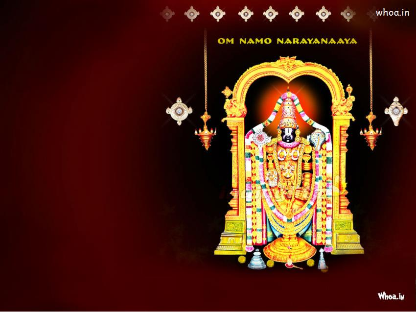 Good Night Greetings Quotes Wishes Hd Wallpapers Free Download Lord Venkateswara With Red Background Hd Wallpaper