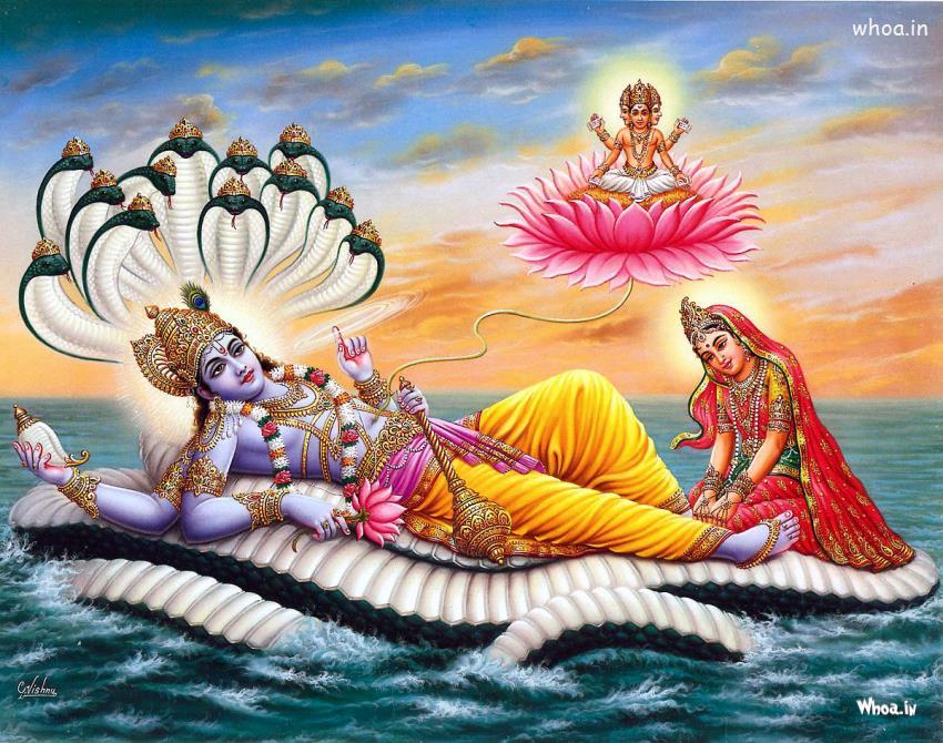 Krishna 3d Wallpaper For Mobile Lord Vishnu And Mata Lakshmi Art Hd Wallpaper