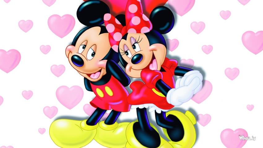 Infant Jesus Hd Wallpapers Mickey And Minnie Mouse Love Eachother With Love Heart