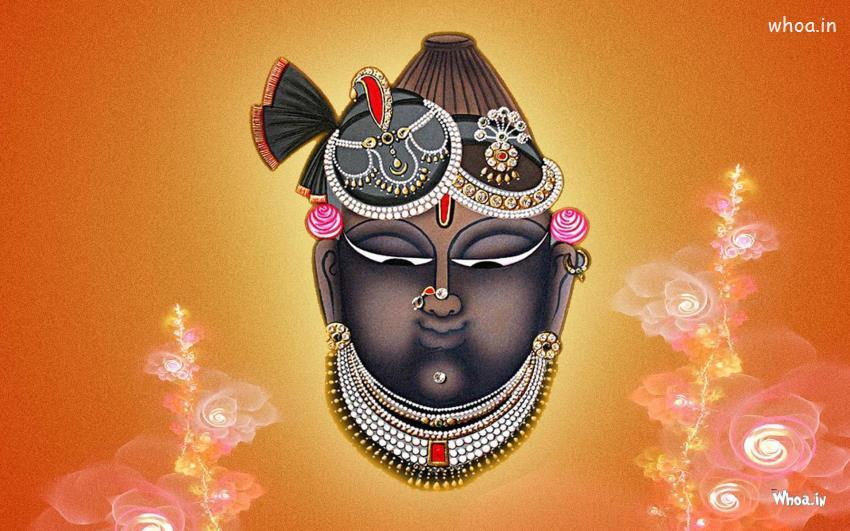 God Quotes Hd Wallpaper Mukharvind Shrinathji Wirh Colorful Background Hd Wallpaper