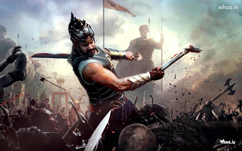 God Ganesh Hd 3d Wallpaper Prabhas Fight In Bahubali Movies Hd Wallpaper