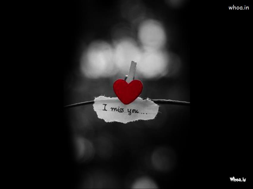 Broken Heart Girl Crying Wallpaper Red Heart With I Miss You Hd Dark Background Wallpaper