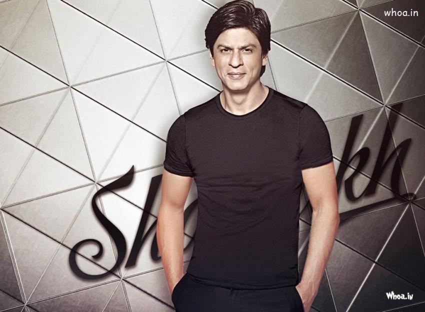 Srk 3d Wallpaper Shah Rukh Khan Black T Shirt With Smiley Face Hd Wallpaper