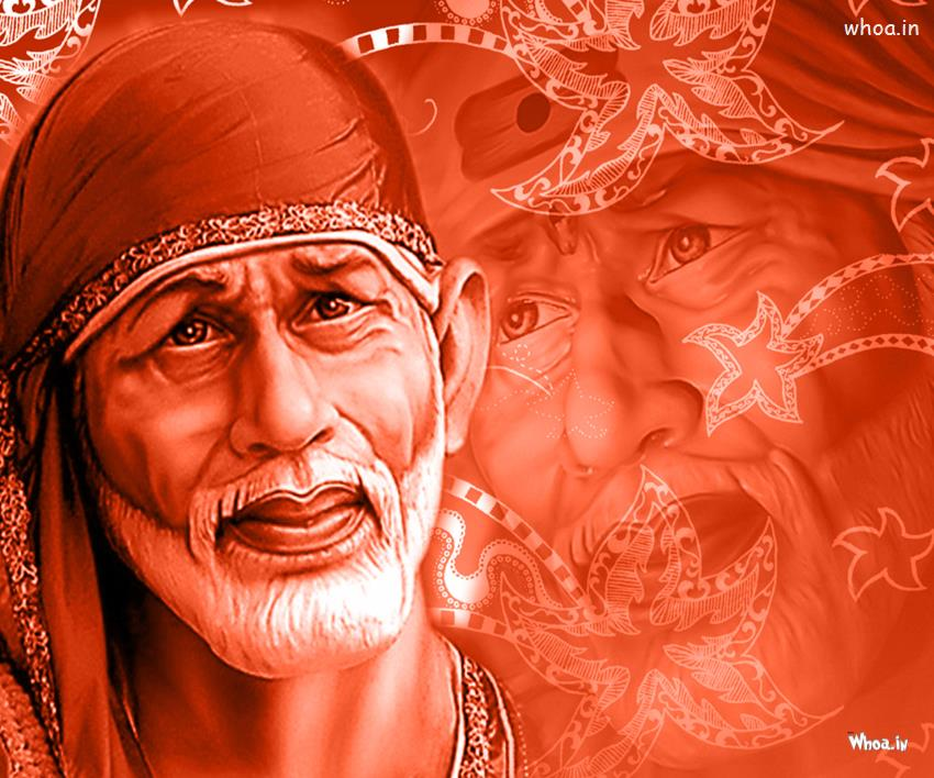 Cute Wallpapers With Friendship Quotes Shirdi Sai Baba 3d With Red Background Hd Wallpaper