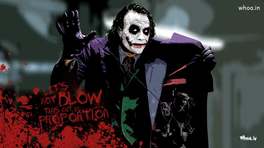 Om 3d Wallpaper Download The Joker Heath Ledger With Quotes Hd Wallpaper