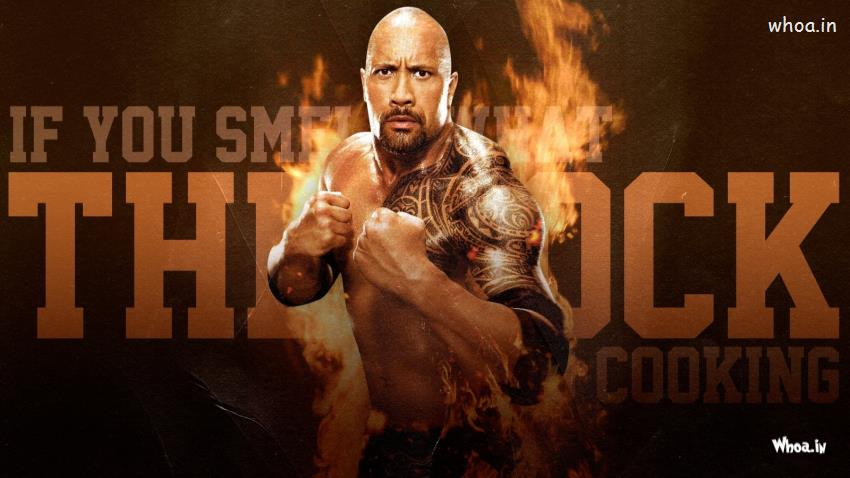 Holi Wallpaper 3d The Rock Fight With Fire Background Hd Wwe Wallpaper