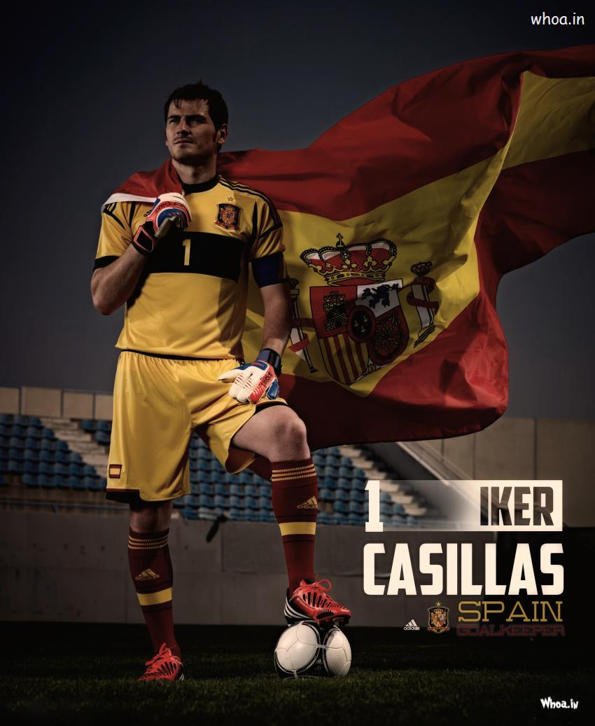 Valentine Day Hd Wallpaper With Quotes The Spain Goalkeeper Iker Casillas With Spain National