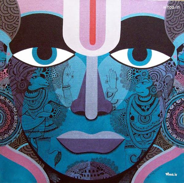 Om 3d Wallpaper Hd Hanuman Art Painting With Graffiti Art
