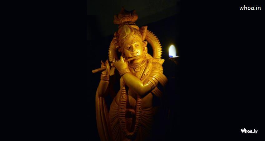God Ganesh Hd 3d Wallpaper Lord Krishan Hd Images With Light Black Backgrond