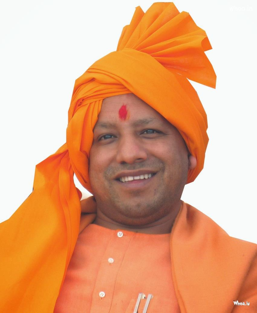 Om Sai Ram Wallpaper 3d Smiling Image Of Cheif Minister Yogi Aadityanath With Pagdi