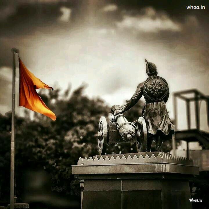 Good Night Baby Hd Wallpaper Maratha King Chatrapati Shivaji Maharaj With His Flag