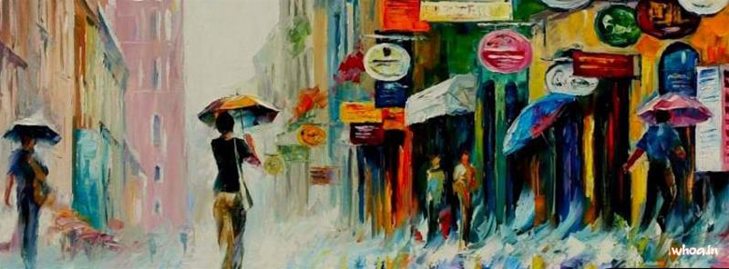 Rain Wallpapers With Quotes Hd Facebook Rain Oil Painting Cover Whoa In