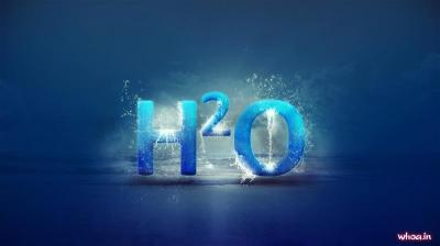 H2o Formula Of Water 3D, And Hd Blue