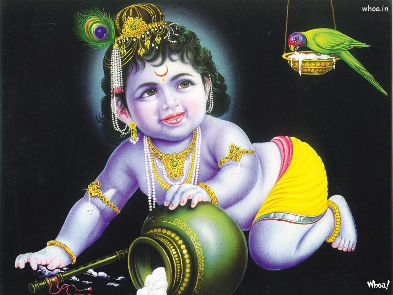 Kajal Agarwal Cute Wallpapers Bal Krishna 50 Lord Bal Krishna Wallpaper