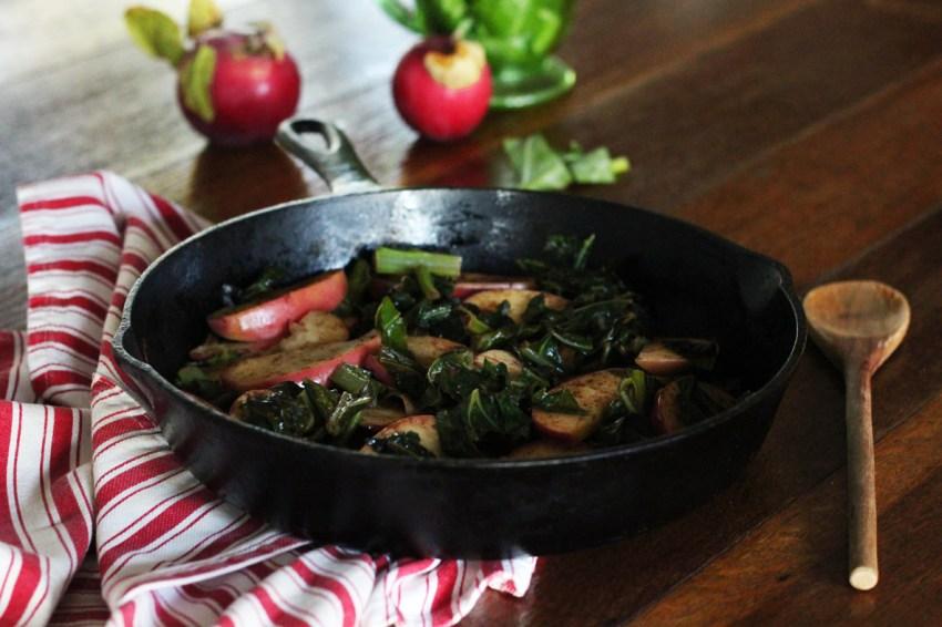 Skillet Collards & Vermont Apples
