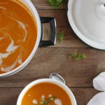 Roasted Carrot Soup & Horseradish Cream