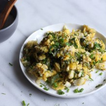 Herbed Duck Egg Scramble