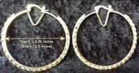 Oro Laminado | Gold Layered | CZ Bangle Hoop Earrings 9 ...