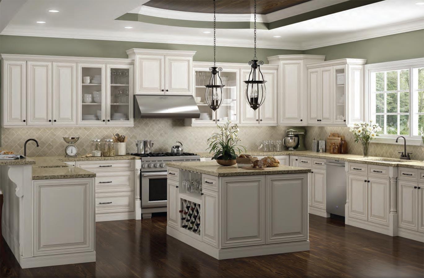 Charleston Antique White Kitchen Cabinates Photos, Pictures