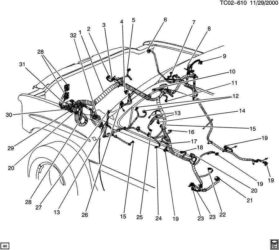 headlight wiring harness 2002 chevy trailblazer