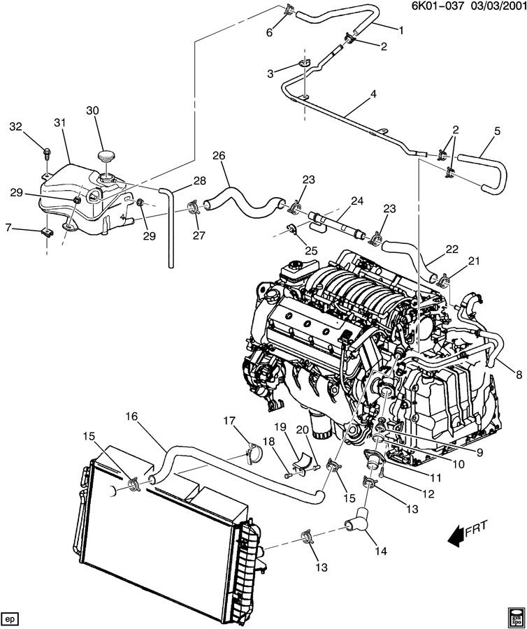 cadillac engine cooling diagram