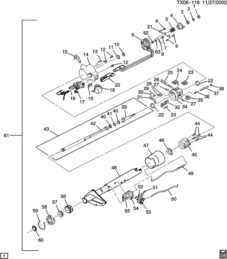 Chevy Steering Column - Best Place to Find Wiring and Datasheet