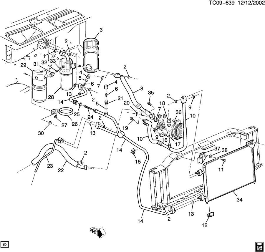 ac compressor schematic for 2014 gmc