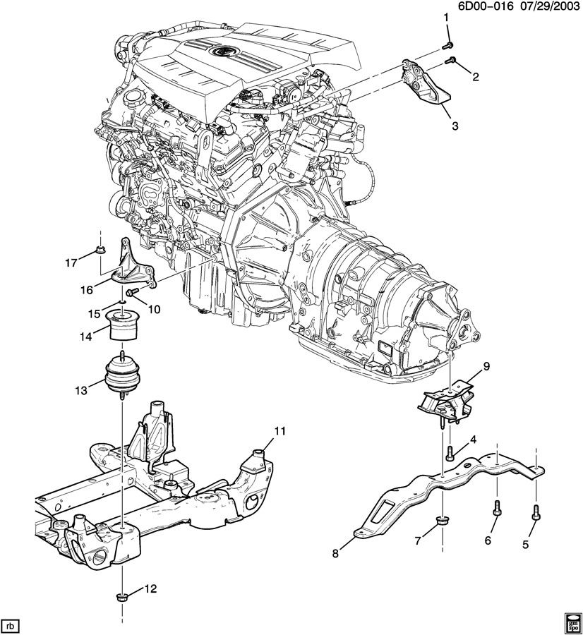 cadillac 3 2l v6 engine