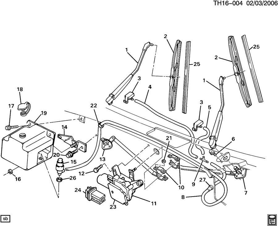wiper motor wiring diagram besides rear windshield wiper motor wiring