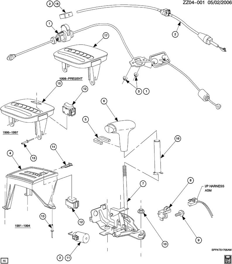 1997 saturn sw2 transmission diagram