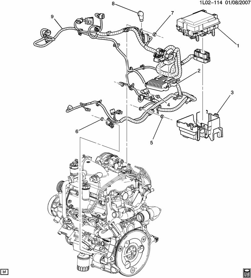 2006 buick terraza engine diagram