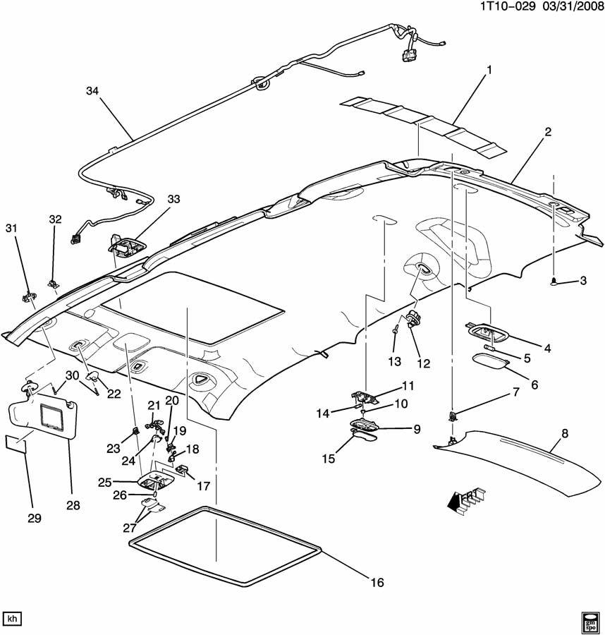 hhr sunroof wiring diagram