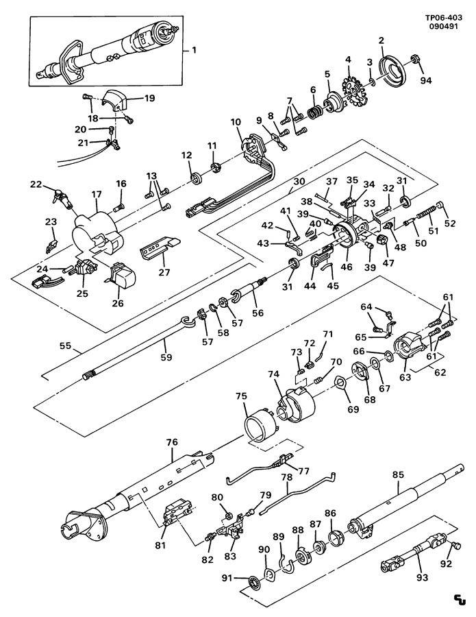 gmc yukon steering column wiring diagram
