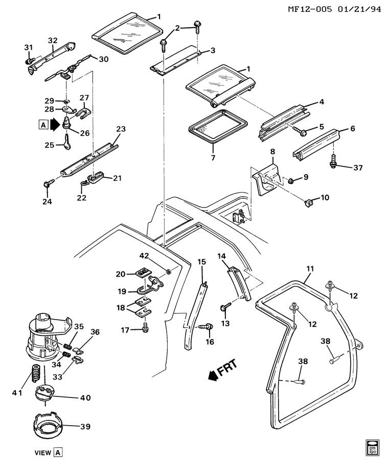 chevrolet camaro 1993 2002 parts and diagrams