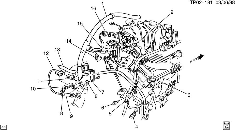 200gmc jimmy engine diagram