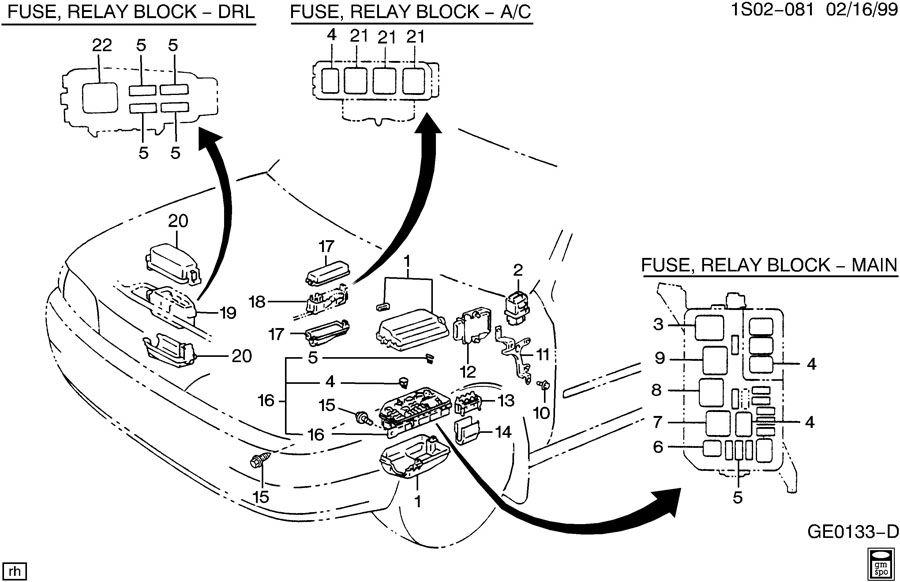 95 geo prizm engine diagram