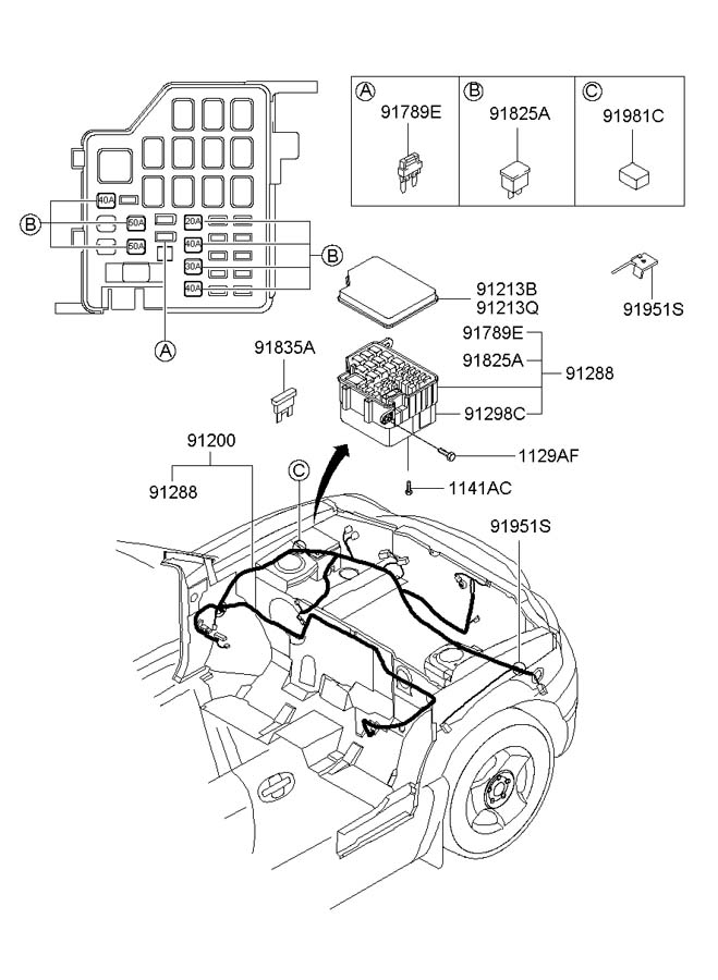 hyundai santa fe engine wiring diagram