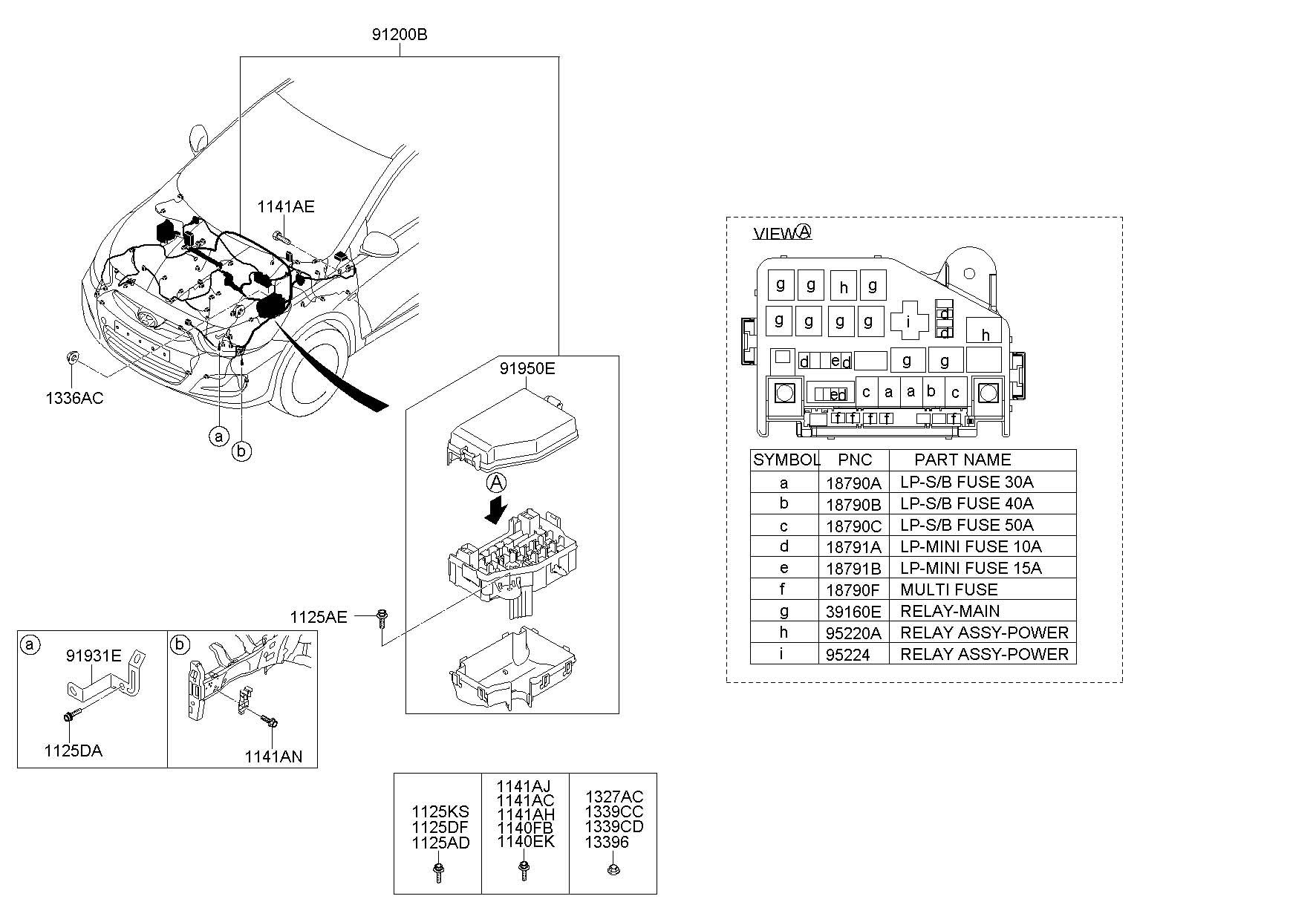2013 hyundai accent fuse diagram