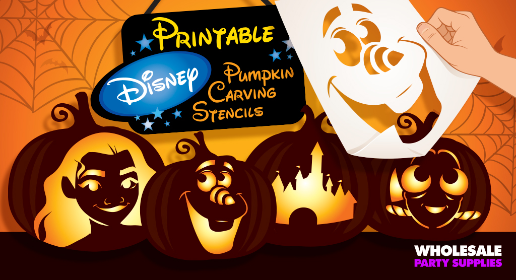 Disney Pumpkin Stencils Party Ideas  Activities by Wholesale - disney pumpkin templates