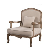 French Provincial Oak Single Armchair Sofa Arm Chair