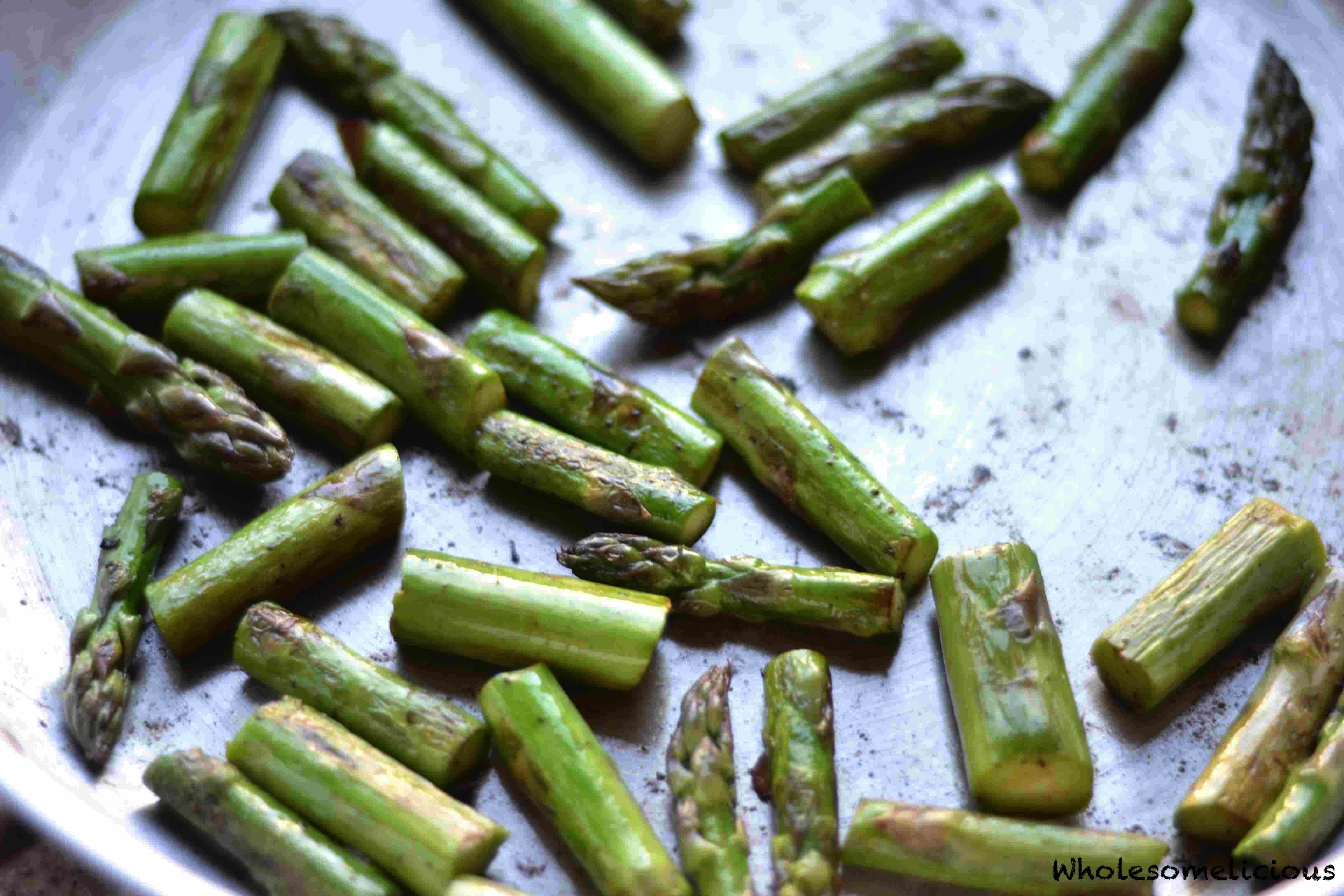 how to clean up asparagus